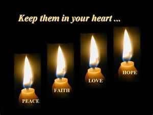 Faith Hope Love Candles
