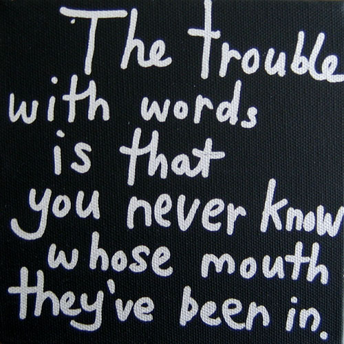 the trouble with words
