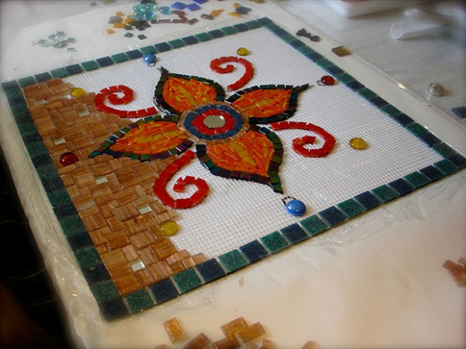 mosaic-in-progress