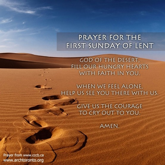 prayer for Sunday 1 of Lent
